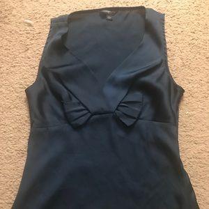 Banana Republic navy silk blouse